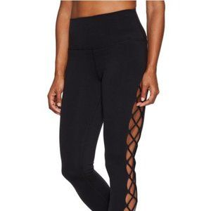 VIMMIA Interlace Crop Leggings Mesh Panel #LL12